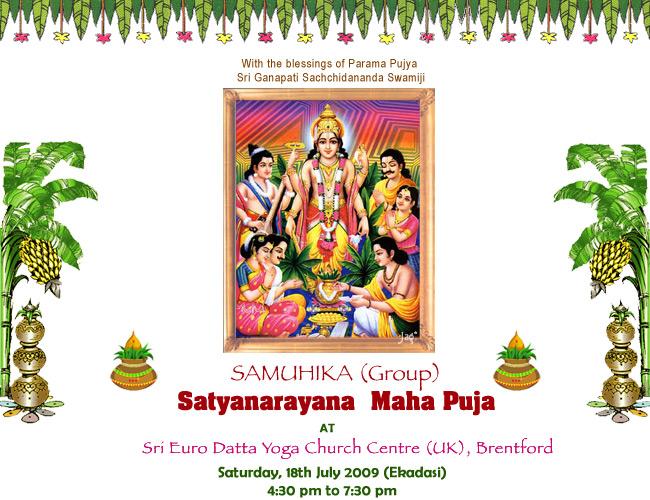 Samuhika Satyanarayana Maha Puja Dycuk