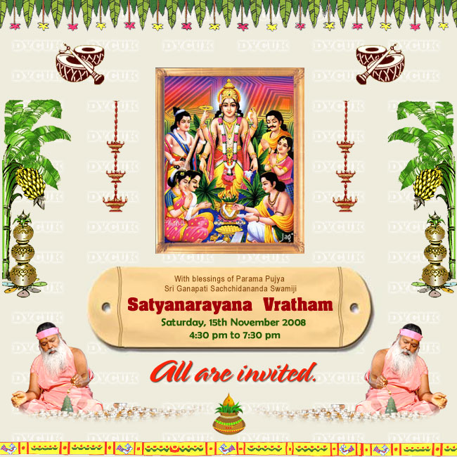 INVITATION LETTER FORMAT FOR SATYANARAYAN POOJA | Invite